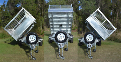 3 WAY TIPPING Galvanised 14x7ft Tandem 3.5 Ton Hydraulic Side Tipper Trailer