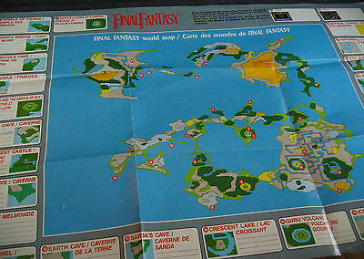 nintendo nes final fantasy map only in very good condition maust see