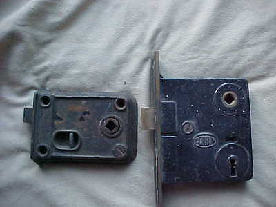 Lot Of 2 Antique (1 Corbin) Door Latch Mechanism
