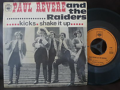 "PAUL REVERE AND THE RAIDERS Kicks NM garage freakbeat mod psych 45 7"" SINGLE PS"