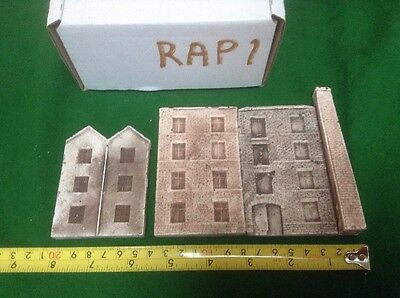 N Scale  low relief Scenic Backdrop Industrial Buildings- Samples