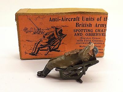 W. Britains 1731 Anti-Aircraft Spotting Chair & Observer W/ Partial Box ~Nice~