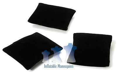 Jewelry Display Pillows, Black Velvet, 3 pack