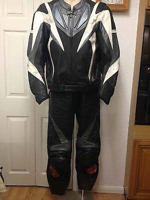 Men's IXS 2 Piece Motorcycle Leathers - W'TON