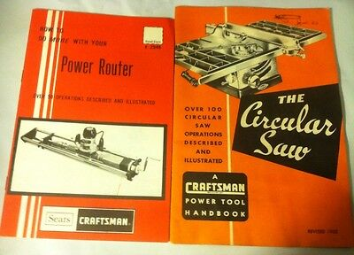 Sears Craftsman Power Tool Manuals Vintage Booklets