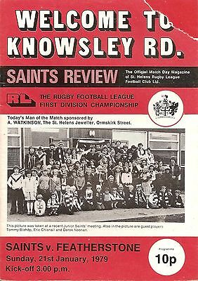 St Helens v Featherstone - Division 1 - 1978/79
