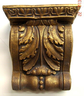 Gold Finish Shelf Acanthus leaf plaster Wall Corbel Sconce Bracket Home Decor