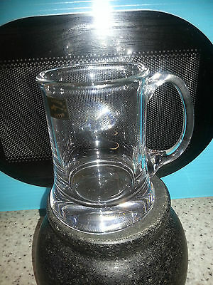 Langham Glass Half Pint Beer Tankard Mint New Unboxed