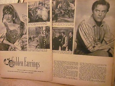Marlene Dietrich, Ray Milland, Golden Earrings, Four Page Vintage Clipping