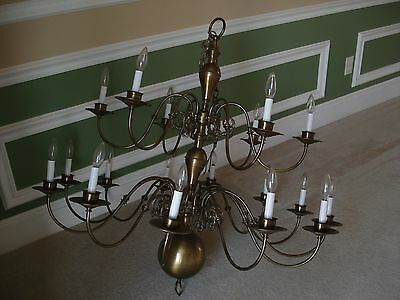 Vintage Early American Ornate Chandelier