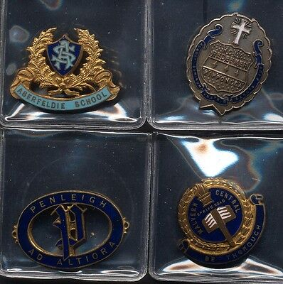 Vintage School Badge x 4 Alberfeldie Essendon Plus