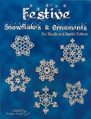 Festive Snowflakes & Ornaments Pattern Book for Needle and Shuttle Tatting