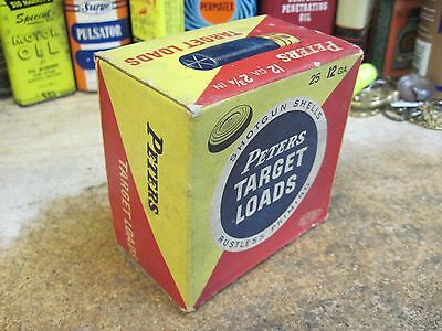 Peters Target Loads Paper Shotgun Shell Box Empty 12 Gauge Remington Original