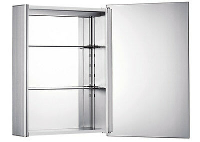 Whitehaus WHLED-1 Single Door Medicine Cabinet with 2 Faced Mirrored Doors