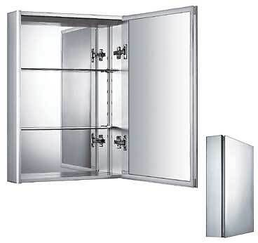 Whitehaus WHKAL Double Sided Mirrored Door Medicine Cabinet
