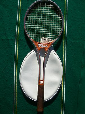 1978 Wilson Aluminum Jimmy Connors Rally 4 5/8 Strung 18x18 Cover EXCL Japan