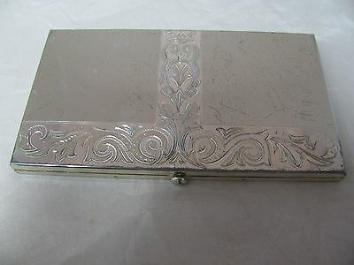 ART DECO STERLING SILVER CIGARETTE CASE by WADSWORTH ENGRAVED