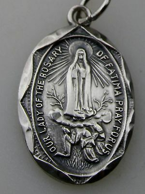 Vintage 1946 Carmelite Convnets Our Lady of Fátima Nun's Silver Rosary Medal