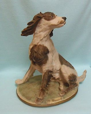 LARGE CAPODIMONTE SPANIEL figurine Italian porcelain GREAT GIFT! dog ornament
