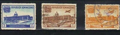 Dominican republic 3 used stamps