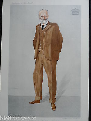 Original 'The World' Supplement Print of Viscount Halifax - c1910 - Emu Portrait