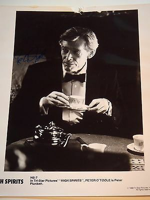 """Signed 8 x 10"""" photo of Peter O'Toole from High Spirits"""