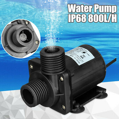 IP68 DC12V 5M 800L/H Ultra Quiet Brushless Motor Submersible Pool Water Pump