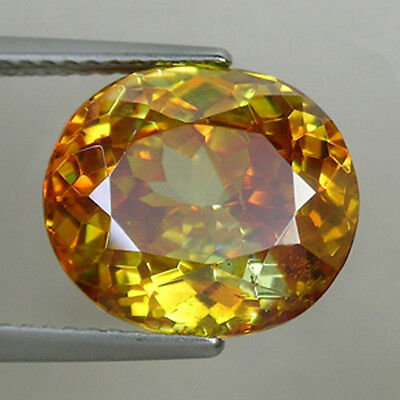7.09ct SPARKLING  MULTI COLOR AS PICTURE  NATURAL SPHALERITE SPAIN OVAL  # 1020