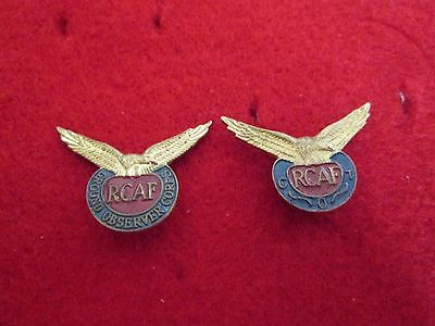 WWII RCAF (Royal Canadian Air Force) Ground Observer Corps & COT Enameled Badges