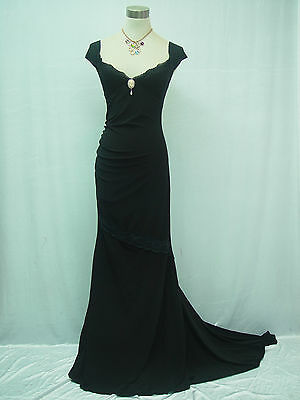 Cherlone Black Long Ballgown Prom Bridesmaid Formal Wedding/Evening Dress 16-18