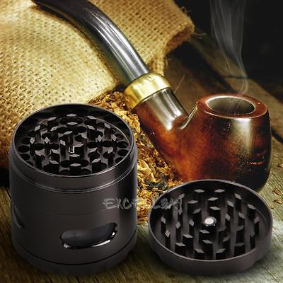 4-layer Hand Crank Herbal Herb Tobacco Crusher Grinder Smoke Grinders Aluminum