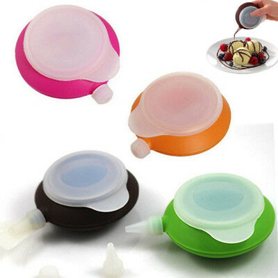 New Macaron Silicone Cake Cream Muffin Baking Pen +3 Nozzle Set Decorating Tool