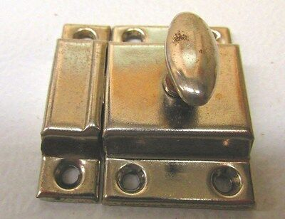 Vintage JAPAN Chrome Hoosier Cupboard Cabinet Door Spring Load Latch #1