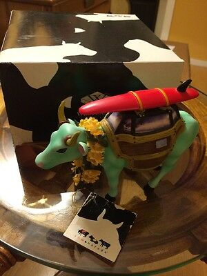 Westland Cow Parade Collectible Figurine Surfing Cow-A-Bunga With Box