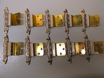 Vintage 10 (5 pair) Amerock French Provincial Cabinet Hinges PAT'D 188 485 LOT#1