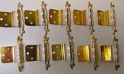 Vintage 10 (5 pair) Amerock French Provincial Cabinet Hinges PAT'D 188 485 LOT#3