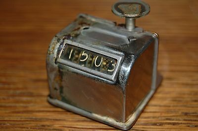 Vintage STEAMPUNK Western Electric 4 Digit Counter 13A Manual Mechanical