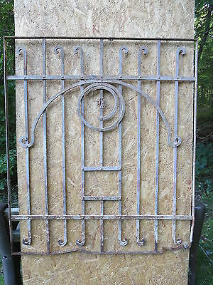 Antique Victorian Iron Gate Window Garden Fence Architectural Salvage Door HHH