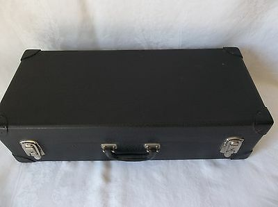 1940's  Black Travel Trunk / Suitcase  Salesman Cases In Nice Condition
