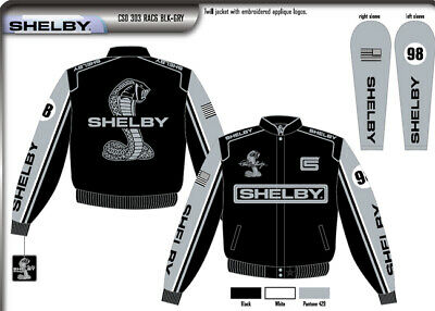 "Shelby Mustang Logo Jacket ""98"" - Great Looking New Design - Carroll Shelby"