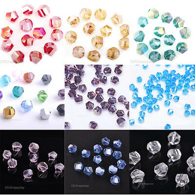 Lots 50X Czech Crystal Glass Loose Spacer Charm Bead 8MM For Bracelet Necklace