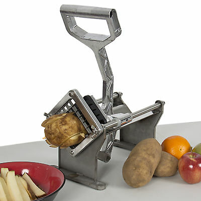 Commercial Potato French Fry Fruit Vegetable Cutter Slicer Cutting w/ 3 Blades
