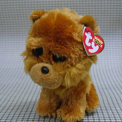 TY BEANIES BOOS Barley Brown Dog  6 inch Stuffed toy missing tush tag