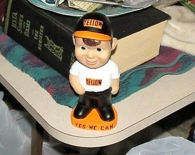 Yellow.Trucking,Bobble Head,Yes We Can,Excellent Condition!