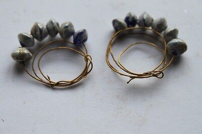 ANCIENT ROMAN GOLD EAR RINGS 1/2nd CENTURY AD