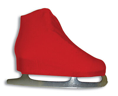 A&R Universal Figure Skate Cover Lycra Stretch Ice Skate Boot Cover Red 3 SCRD