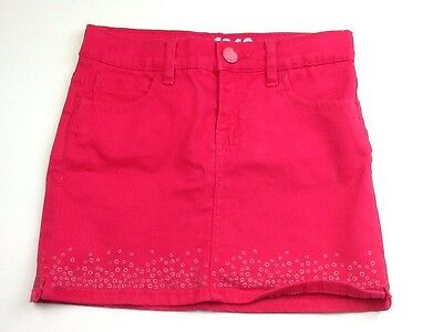 GAP Girls Age 6 Years Pink Party Mini Skirt Summer DenIm Skirt Ref: 087