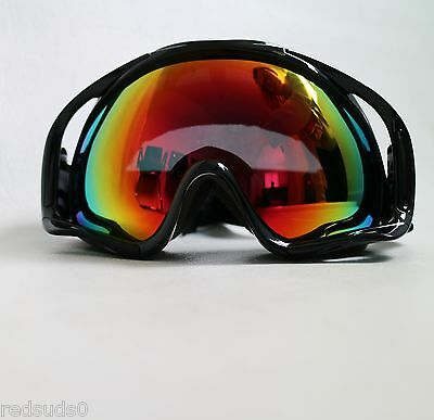 Dirty Dog Ski Snowboard Goggles Out Rigger Adult Red Mirror Lens 54116