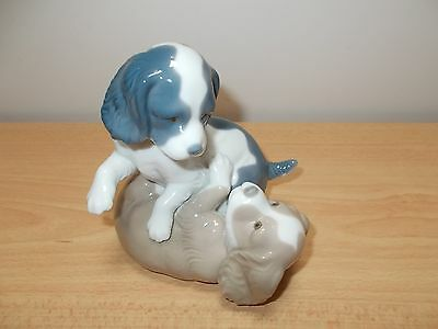 NAO by Lladro -Nao 386G Mischievous Puppies Playing