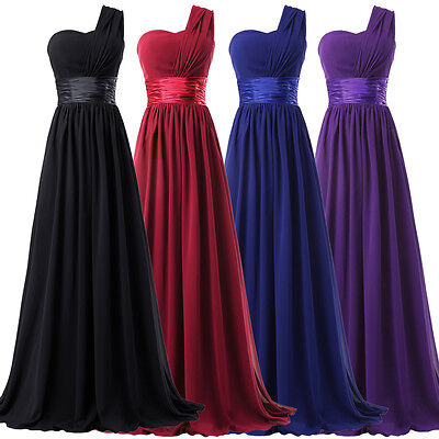 Chiffon Bridesmaid Wedding Dresses Long Cocktail Evening Party Prom Ball Gowns